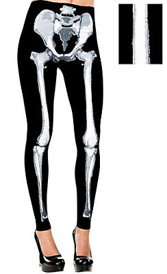 Adult Footless Skeleton Leggings