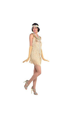Roaring '20s Champagne Flapper Dress