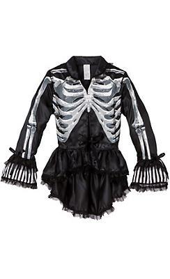 Black and Bone Gothic Jacket - Skeleton