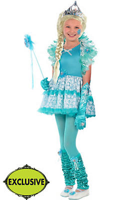 Girls Tutu Elsa Costume - Frozen
