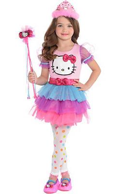 quick shop child rainbow hello kitty - Halloween Hello Kitty Costume