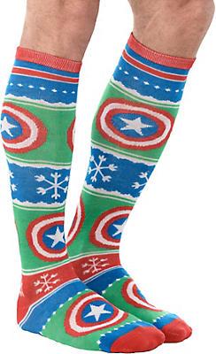 Captain America Christmas Knee Socks