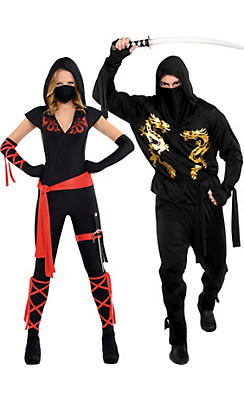 Adult Ninja Couples Costumes