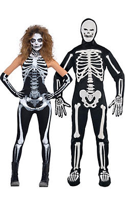 Scary Skeleton Couples Costumes