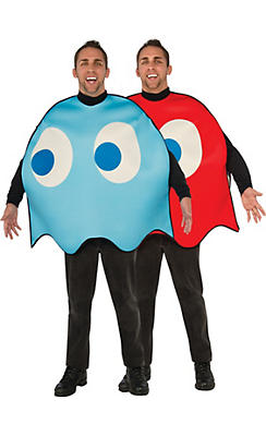 Adult Pac-Man Ghosts Couples Costumes