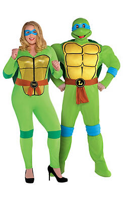 Adult Teenage Mutant Ninja Turtles Couples Costumes Plus Size