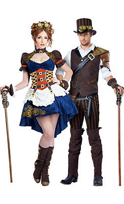 Adult Steampunk Couples Costumes