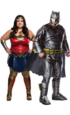 Adult Wonder Woman & Batman Couples Costumes Plus Size - Batman v Superman: Dawn of Justice