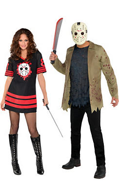 Adult Friday the 13th Couples Costumes
