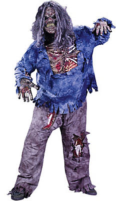 Adult Complete Zombie Costume Plus Size