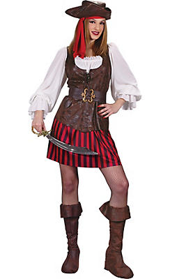 Adult High Seas Buccaneer Pirate Costume Deluxe