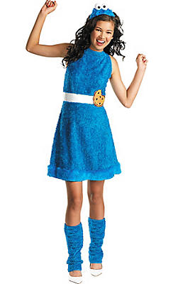 Girls Cookie Monster Costume - Sesame Street