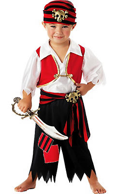 Toddler Boys Ahoy Matey Pirate Costume