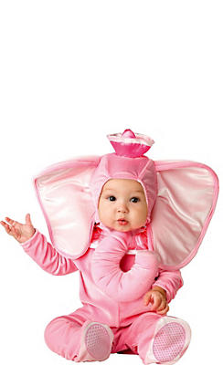 Baby Pink Elephant Costume Deluxe