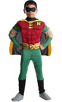 Boys Robin Muscle Costume Deluxe - Teen Titans