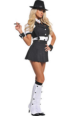Adult Miss Mob Costume