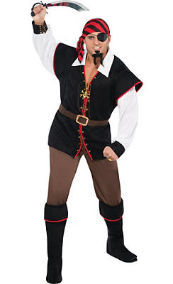 Adult Rebel of the Sea Pirate Costume Plus Size