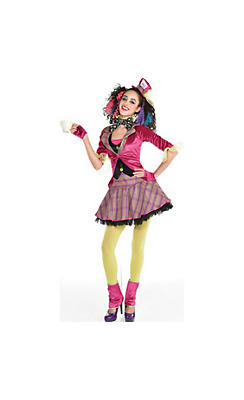 quick shop teen girls teatime mad hatter costume - Girls Teen Halloween Costumes