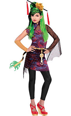 Girls Jinafire Long Costume Deluxe - Monster High