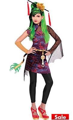 Girls Jinafire Long Costume Deluxe - Monster High
