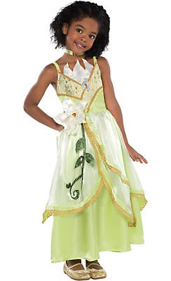 Girls Tiana Costume Supreme - Princess and the Frog