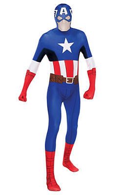Adult Captain America Partysuit