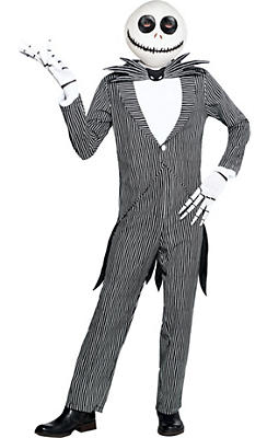 Adult Pinstripe Jack Skellington Costume - The Nightmare Before Christmas