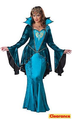 Adult Medieval Queen Costume Plus Size Deluxe