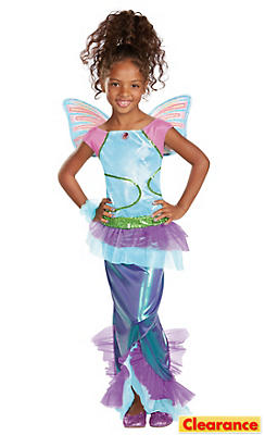 Girls Mermaid Aisha Costume Deluxe - Winx Club