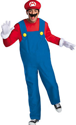 Adult Mario Costume Plus Size Premium - Super Mario Brothers