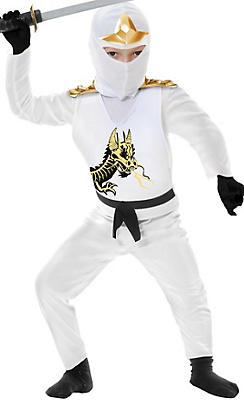 Boys White Ninja Avenger Costume Deluxe
