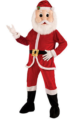 Adult Mascot Santa Jumpsuit Costume