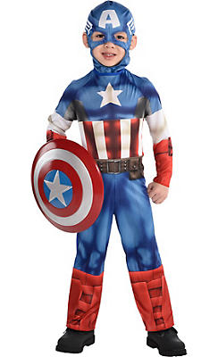 Little Boys Captain America Costume Classic