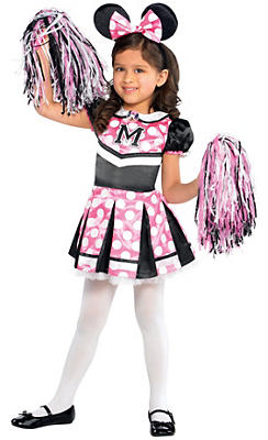 Toddler Girls Sweet Cheerleader Minnie Mouse Costume