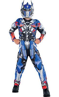 Boys Optimus Prime Muscle Costume - Transformers 4