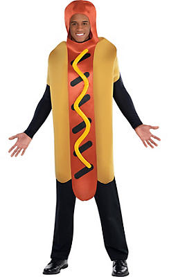 Adult Hot Diggity Hot Dog Costume