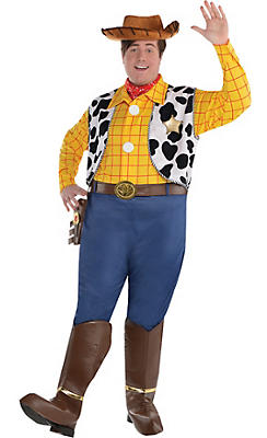 Adult Woody Costume Plus Size Deluxe - Toy Story