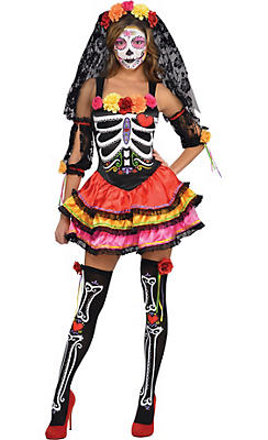 Adult Day of the Dead Senorita Costume