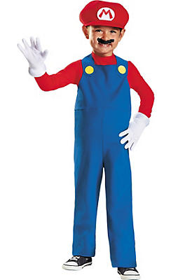Toddler Boys Mario Costume Deluxe - Super Mario Brothers
