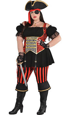 Adult Lassie Lady Pirate Costume Plus Size