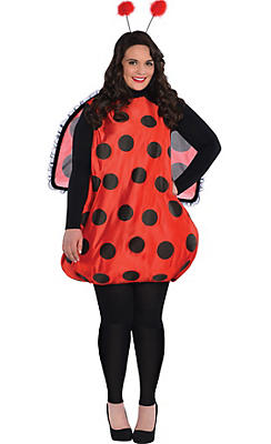Adult Darling Ladybug Costume Plus Size