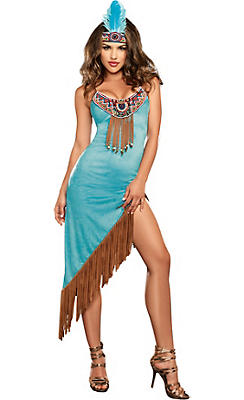 Adult Tribal Temptation Native American Costume