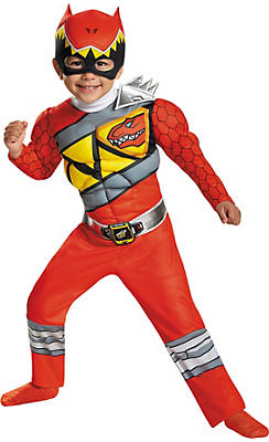 Toddler Boys Red Ranger Muscle Costume - Power Rangers Dino Charge