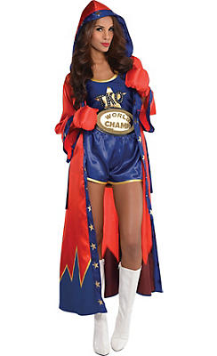 Adult Knockout Sexy Boxer Costume