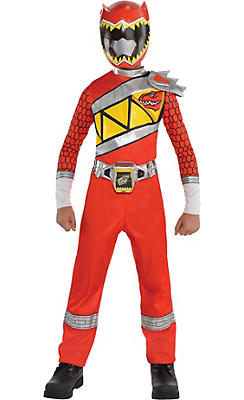 Boys Red Ranger Jumpsuit Costume - Power Rangers Dino Charge