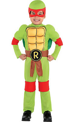 Toddler Boys Raphael Muscle Costume - Teenage Mutant Ninja Turtles