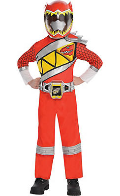 Little Boys Red Ranger Jumpsuit Costume - Power Rangers Dino Charge