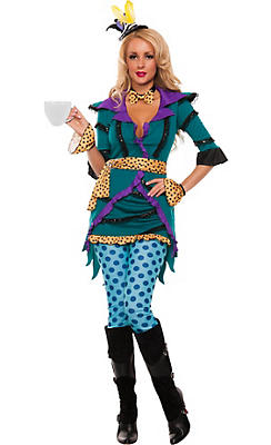 Adult Tea Madness Hatter Costume