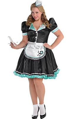 Adult Dinah Delight Waitress Costume Plus Size