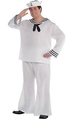 Adult Sailor Man Costume Plus Size